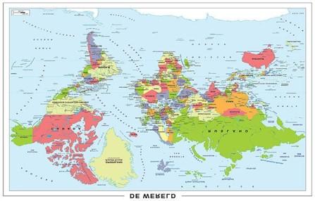 #wereld op zijn kop, prik even waar je woont